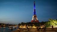 Weltweit leuchtet die Tricolore