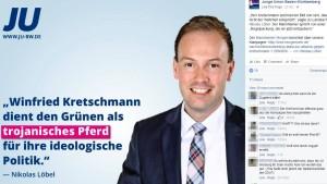 Wie sich die Junge Union an Kretschmann abarbeitet