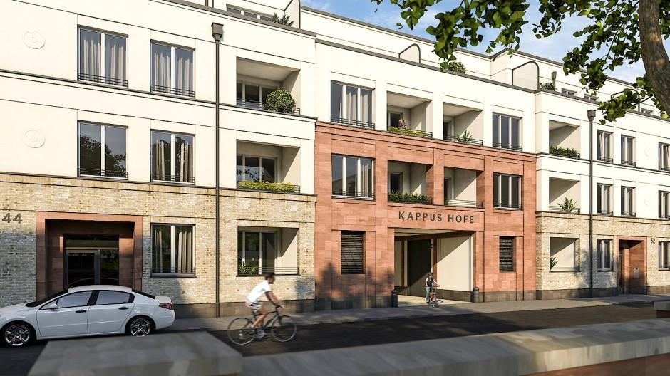 Auf dem ehemaligen Areal der Seifenfabrik Kappus an der Luisenstraße entsteht ein Wohnquartier mit 300 Wohnungen.