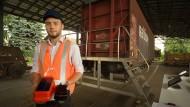 Güterwagen an Zentrale: Bin schon ausgeladen