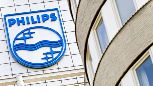 Philips mit halbiertem Gewinn