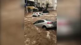 Heftige Überschwemmungen in Bodrum