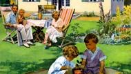 Haus, Garten, Sandkasten, zwitschernde Vögel. Ist es das, was Kinder wollen?