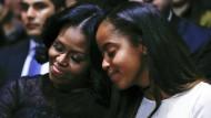 Ob Malia auch auf Ratschläge ihrer Mutter Michelle Obama vertraut?