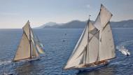 Gut Holz: Begegnung der Big Boats mit Gaffelsegeln (die mit vier statt drei Ecken)