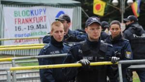 Tauziehen um  Blockupy geht weiter