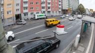 Eine Messstation in der Frankfurter Innenstadt
