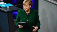 Merkel sorgt sich um Manipulation im Internet