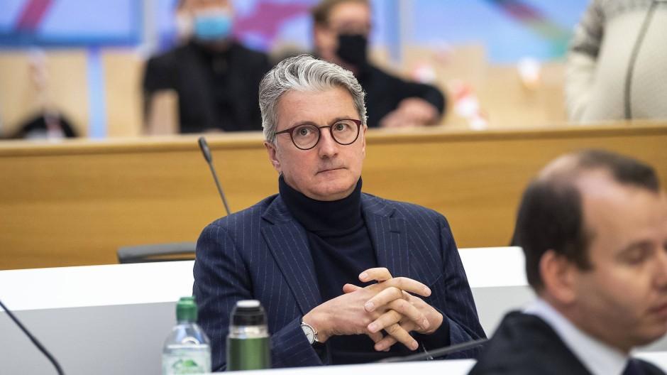 Ex-Audi-Chef Rupert Stadler im Gerichtssaal im Gefängnis von Stadelheim