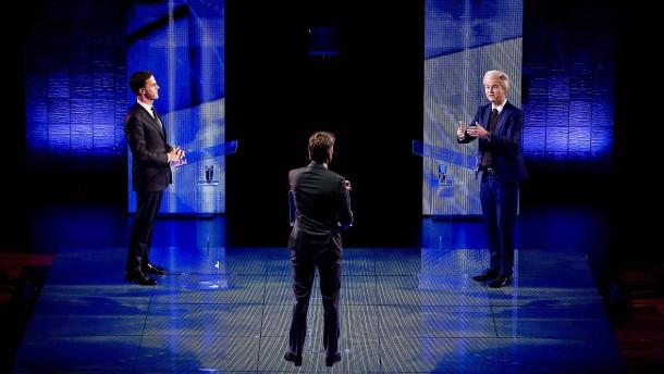 Politischer Schlagabtausch im niederländischen TV