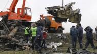 Ukrainer beginnen mit Bergung von MH17