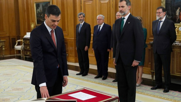 Sánchez als spanischer Ministerpräsident vereidigt