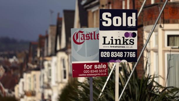 Häuserpreise in Großbritannien auf Allzeithoch