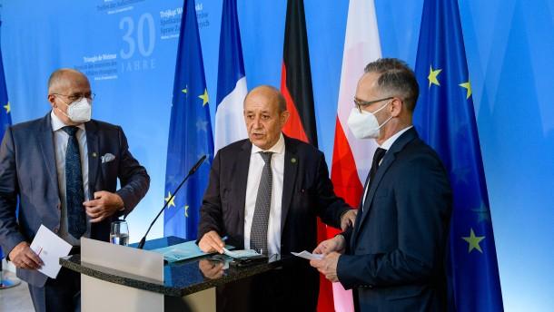 Außenminister beteuern Zusammenhalt