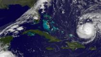So sah Gonazlo aus, als er über dem Atlantik noch ein echter Hurrikan war. Seine Ausläufer sorgen jetzt auch in Deutschland für Sturm.