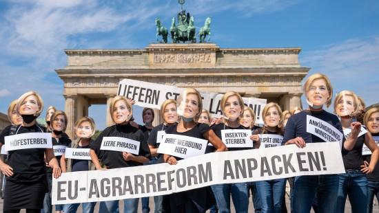 Demonstranten fordern EU-Agrarreform