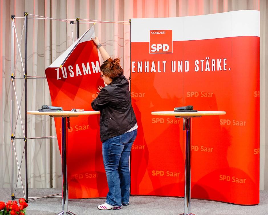 Das Aufräumen danach: Für die SPD war die Wahl im Saarland ernüchternd.