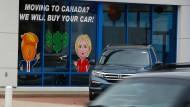 Mehr als nur das Auto verkaufen: Kanada ist für Amerikaner ein sehr beliebtes Einwanderungsland geworden.