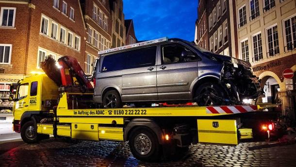 Polizei stellt nach Amokfahrt in Münster Ermittlungen ein