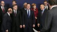 Das übliche Gruppenbild: Regierungschefs mit EU-Parlamentspräsident Martin Schulz