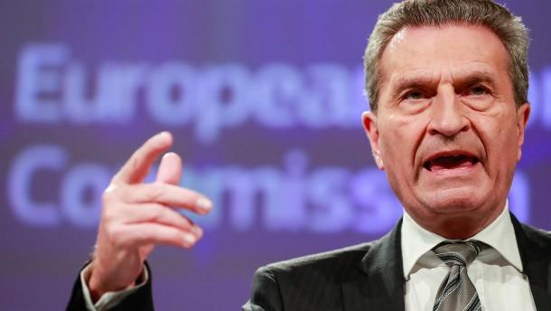 Oettinger fordert EU-Defizitverfahren gegen Frankreich