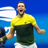 Stolzer Römer und erfolgreicher Tennisprofi: Matteo Berrettini bei den US Open