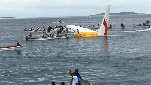 Notlandung auf Mikronesien geht gut aus