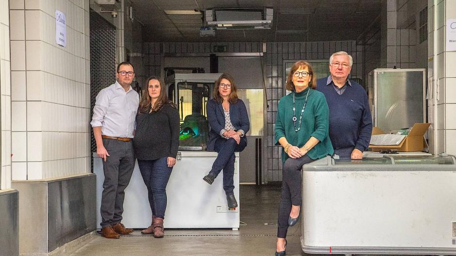 Hoffen auf bessere Zeiten: Die Unternehmerfamilie Hans-Peter und Katrin sowie Sandra, Petra und Bernd Moos-Achenbach (von links)