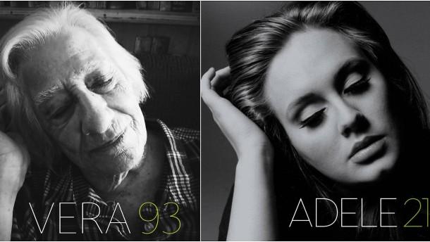 Altenheimbewohner stellen berühmte Albumcover nach
