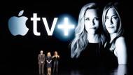 Die Top-Stars aus Hollywood setzte Apple am Montagabend perfekt in Szene: die Schauspieler Steve Carell, Reese Witherspoon und Jennifer Anniston während ihres Auftritts im kalifornischen Cupertino.