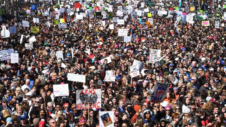 "Die ""March for our lives""-Bewegung fordert strengere Waffengesetze. (Archivbild)"