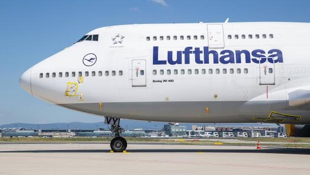Frankfurts Flughafen am Boden