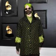 Alles Gucci: Billie Eilish hielt sich bei ihrem Outfit ganz an ihre Haarfarbe