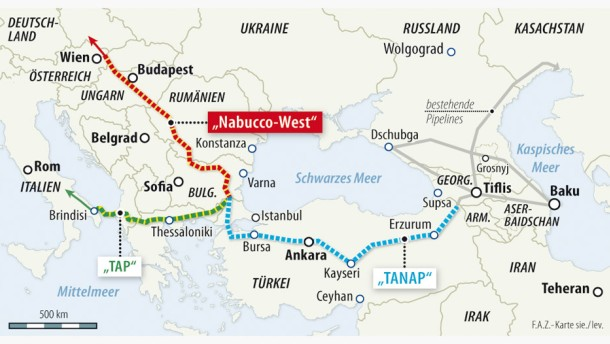 Aserbaidschan liefert Gas nach Europa