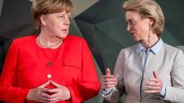 Merkel stellt höhere Verteidigungsausgaben in Aussicht