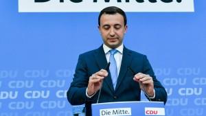 Ziemiak: Urwahlen kein Garant für bessere Umfragewerte