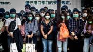 Die Nachfrage nach Mundschutzmasken ist infolge des Coronavirus stark gestiegen.