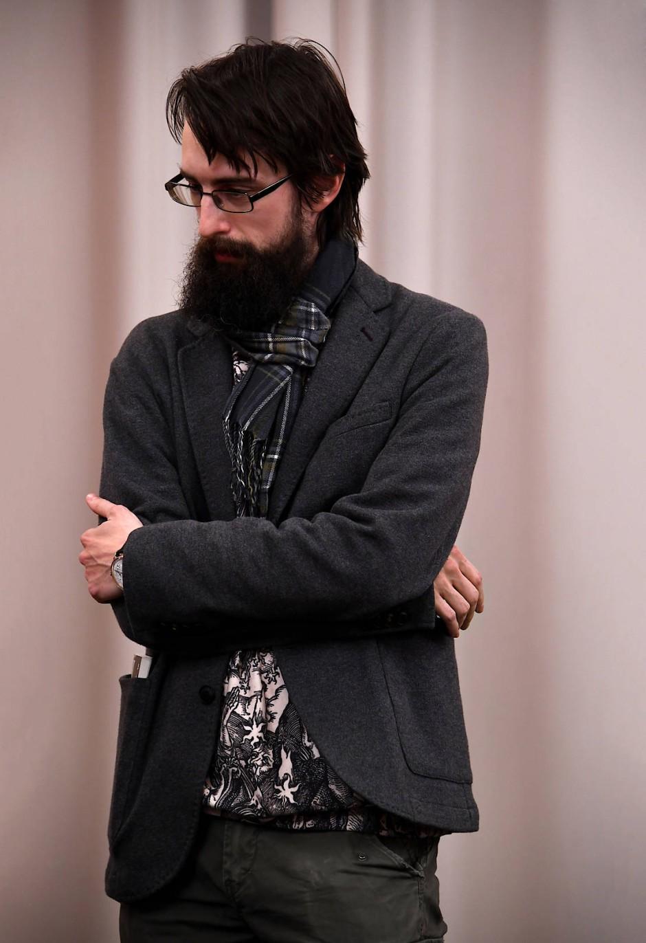 Der österreichische Schriftsteller Clemens J. Setz