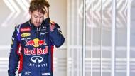 Abgehängt und ausgebremst: Sebastian Vettel
