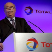 Der Chef des französischen Ölmultis Total, Christophe de Margerie, bei einer Präsentation im Jahr 2012