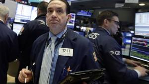 An der Wall Street macht sich Panik breit