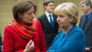 Linker Sparwille: Die beiden SPD-Ministerpräsidentinnen Hannelore Kraft (Nordrhein-Westfalen, rechts) und Malu Dreyer (Rheinland-Pfalz, links)