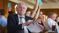 Wo er sitzt, ist vorne: Der CSU-Vorsitzende Horst Seehofer im Münchener Hofbräukeller