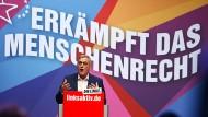 Bernd Riexinger, Vorsitzender der Linkspartei, am Samstag auf dem Parteitag der Linkspartei