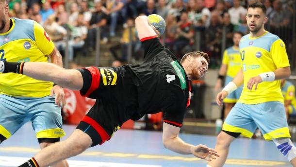 Deutsche Handballer lassen Kosovo keine Chance