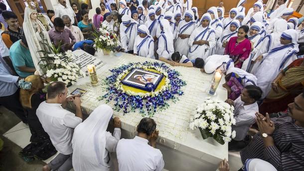 """Indien erinnert an den """"Engel der Armen"""""""