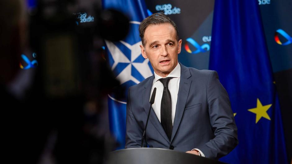 Heiko Maas bei einer virtuellen Pressekonferenz zu den neuen Beziehungen der EU mit den Asean-Staaten am Dienstag