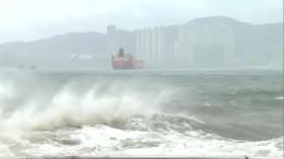 "Bis zu 155 Stundenkilometer: Taifun ""Hato"" bedroht Hongkong"