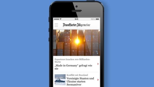 Die neue Nachrichten-App von FAZ.NET
