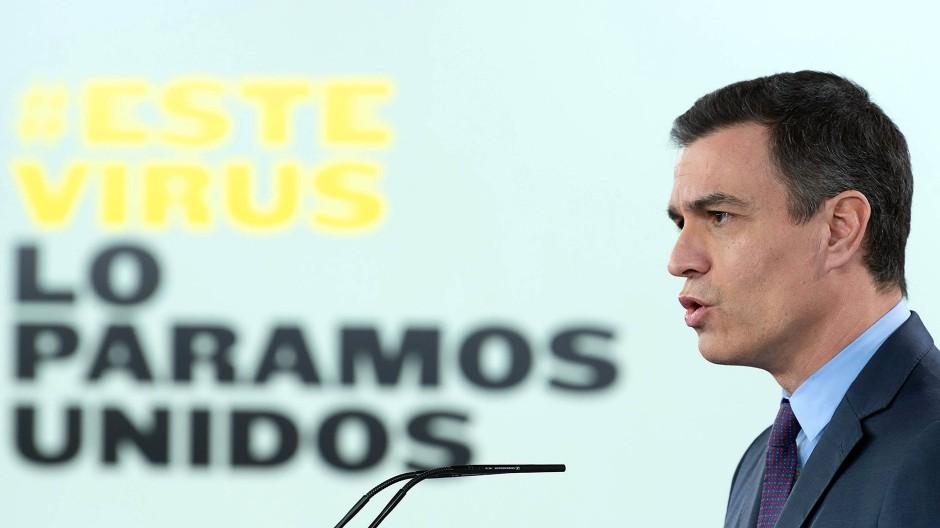Für nationale Einheit zur Überwindung der Krise: Ministerpräsident Pedro Sánchez